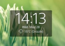 widget orologio digitale
