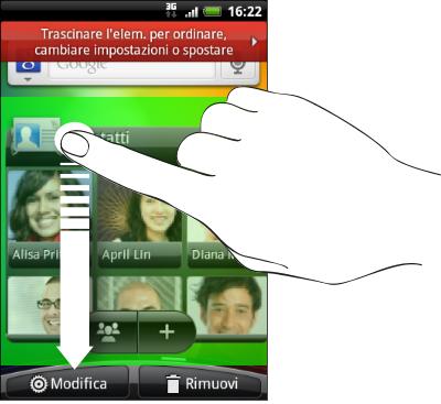 Come eliminare widget Android