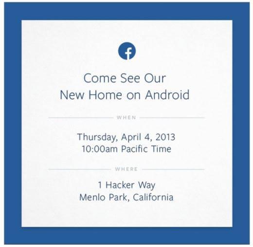 Facebook Phone Invito