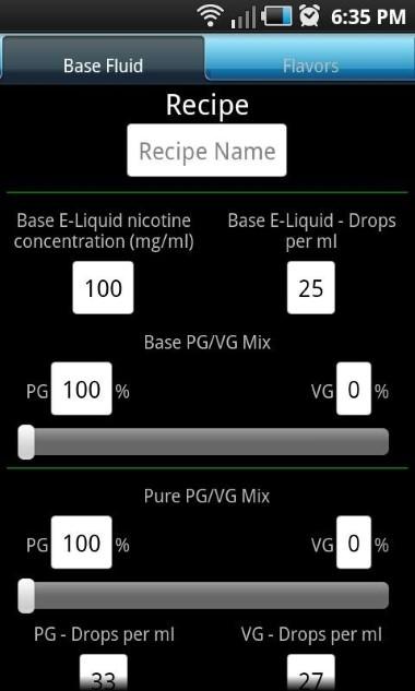 Advanced E-Liquid Calculator L_mini