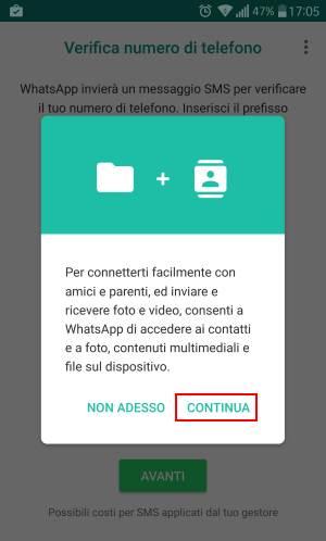 accettare whatsapp