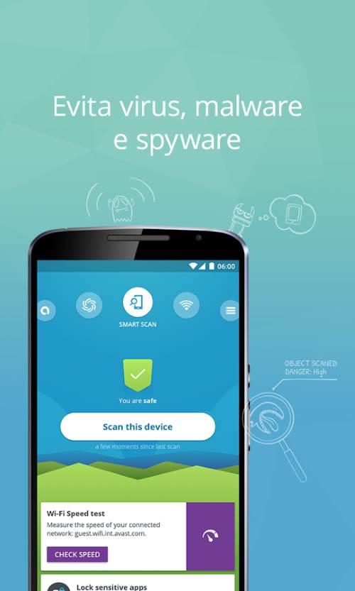 Una schermata di Avast Mobile Security & Antivirus per android