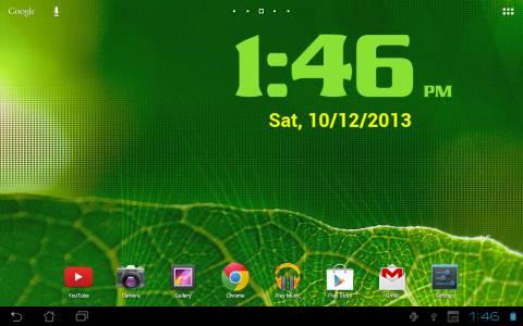 schermata digi clock tablet