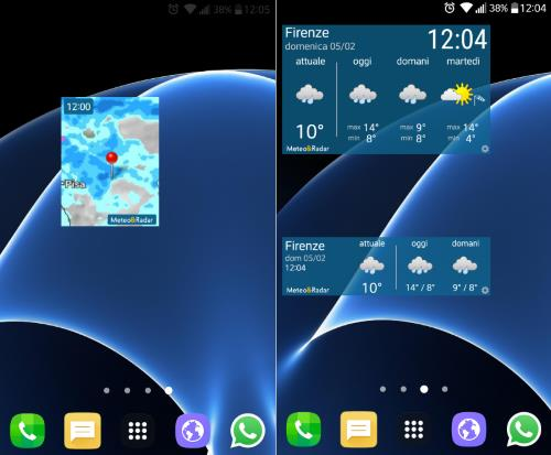 meteo radar widget
