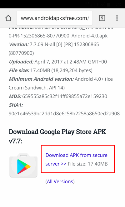 download sito play store
