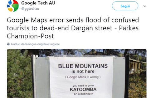 google maps blue mountains