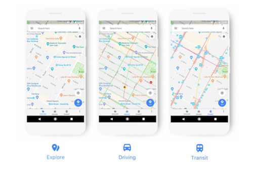 google maps nuova interfaccia