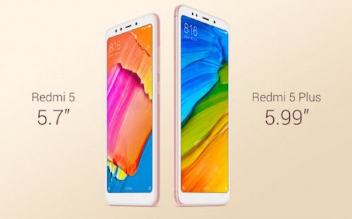 xiaomi redmi 5 e 5 plus