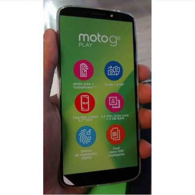 moto g6 play fronte