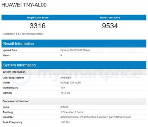 Honor Magic 2 Geekbench
