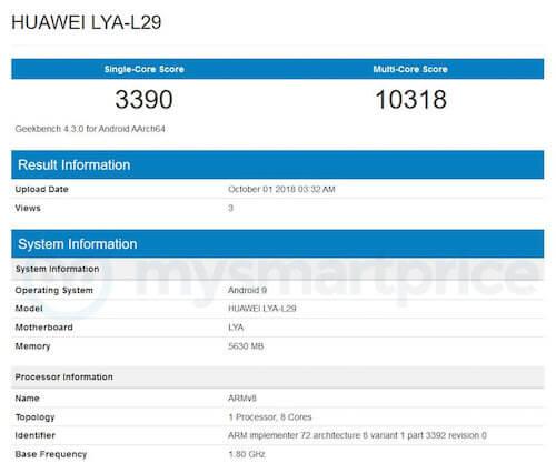 Huawei Mate 20 Pro Geekbench