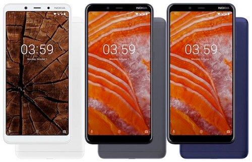 Nokia 3.1 Plus colori