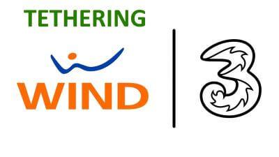 tethering wind tre
