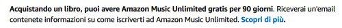 amazon music unlimited prodotto eleggibile