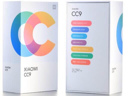 Xiaomi Mi CC9 confezione