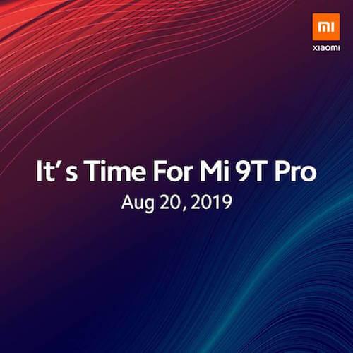 Xiaomi Mi 9T Pro annuncio