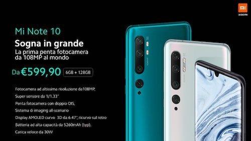 Xiaomi Mi Note 10 specifiche