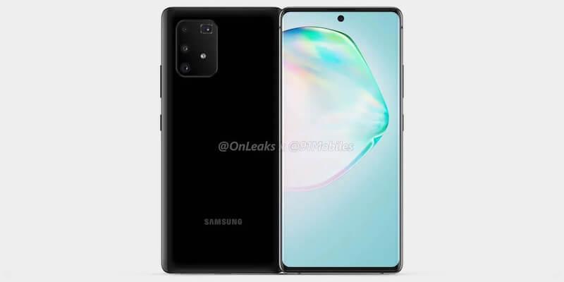 Samsung Galaxy A91 si mostra nei render di OnLeaks