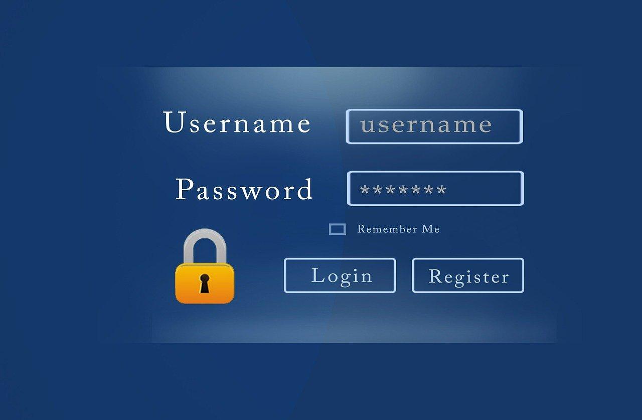 username password form